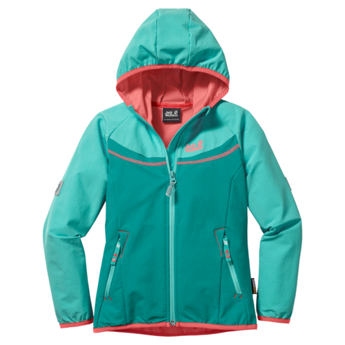 Jack Wolfskin Turbulence Girls Sommer Softshelljacke - Spearmint