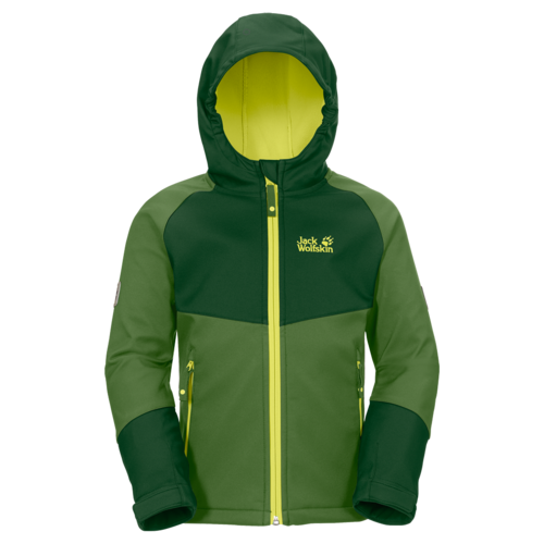 Jack Wolfskin Kids Cold Mountain Softshelljacke - Cactus Green Gr.104