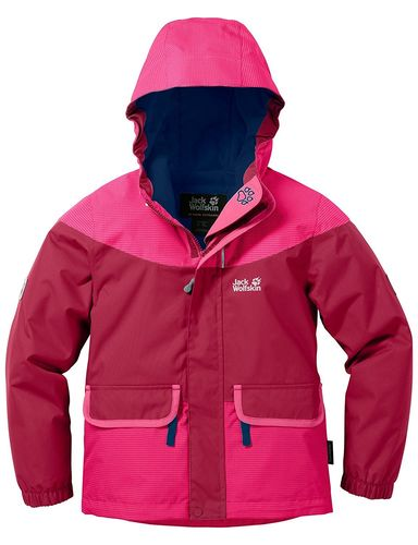Jack Wolfskin Glacier Bay Jacket Girls Jacke Wattiert - Azalea Red