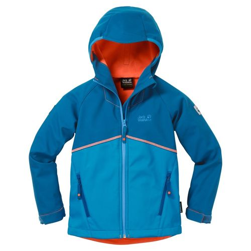 Jack Wolflskin Frosty Wind Boys Softshelljacke Jungen - Brilliant Blue Gr.164
