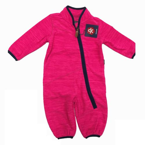 Color Kids Staden Mädchen Fleece-Overall Jumpsuit - Pink