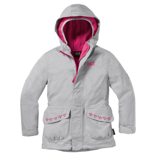 Jack Wolfskin Snowy Trail Girls 3IN1 Doppeljacke Mädchen - Grey Heather
