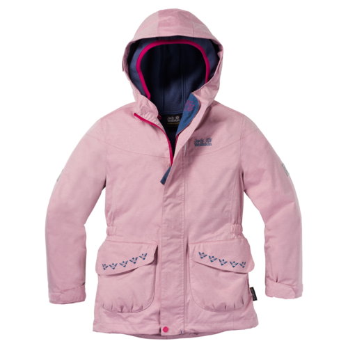 Jack Wolfskin Snowy Trail Girls 3IN1 Doppeljacke Mädchen - Azalea Red