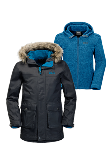 Jack Wolfskin Rhode Island 3IN1 Parka Boys Funktionsparka - Phantom