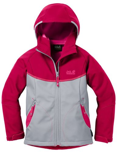 Jack Wolflskin Frosty Wind Girls Softshelljacke Mädchen - alloy