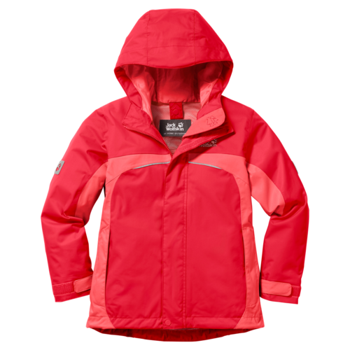 Jack Wolfskin Topaz Texapore Girls Funktionsjacke- hibiscus red