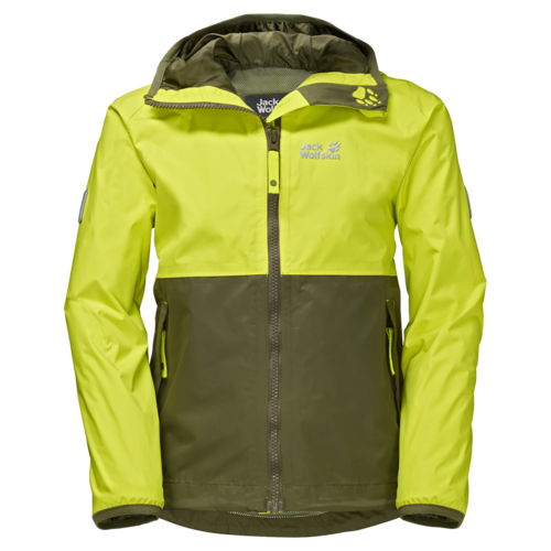 Jack Wolfskin Rainy Days Boys Texapore Regenjacke - flashing green