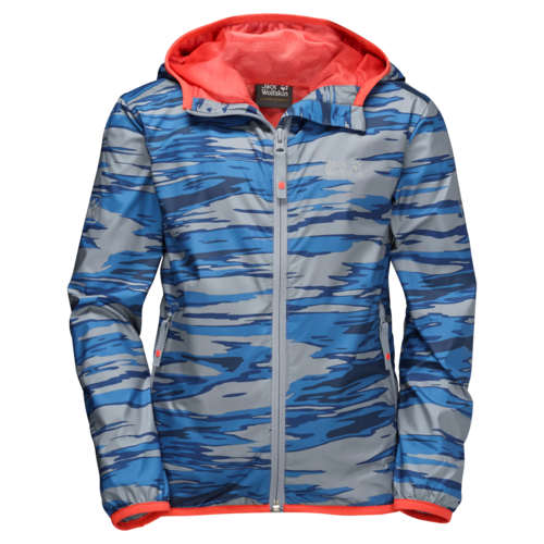 Jack Wolfskin Coastal Wave Kids Unisex Windjacke - alloy all over