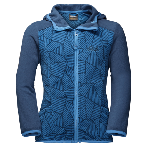 Jack Wolfskin Forest Leaf Kids Sommer Fleecejacke - wave blue all over