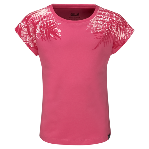 Jack Wolfskin Orchid T Girls T-Shirt - hot pink