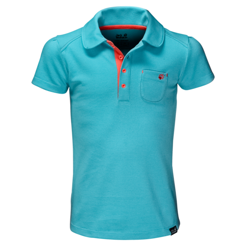 Jack Wolfskin Pique Polo T-Shirt Girls - lake blue