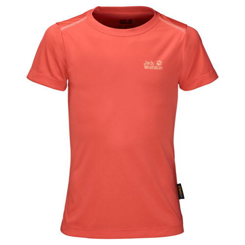 Jack Wolfskin Shoreline T Girls Outdoor T-Shirt - hot coral