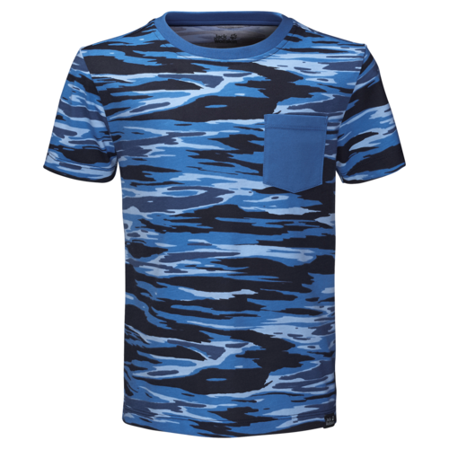 Jack Wolfskin Costal Wave T Boys T-Shirt aus Biobaumwolle - night blue all over