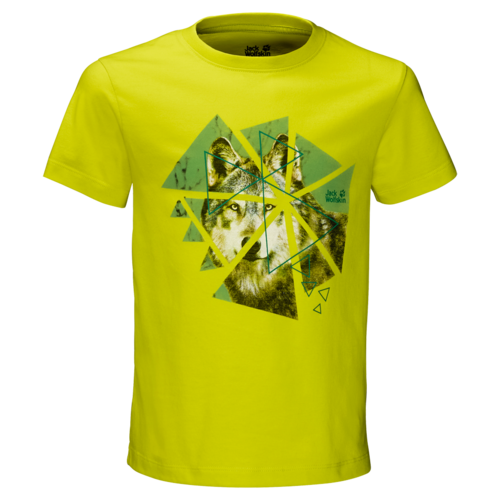Jack Wolfskin WOLF T Boys T-Shirt - flashing green