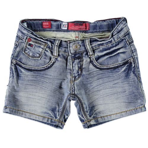 Blue Rebel Mädchen Glinster Slim Fit Hotpants Jeansshorts - Horizon Wash