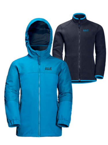 Jack Wolfskin Girls Iceland 3in1 Doppeljacke Mädchen - icy lake blue