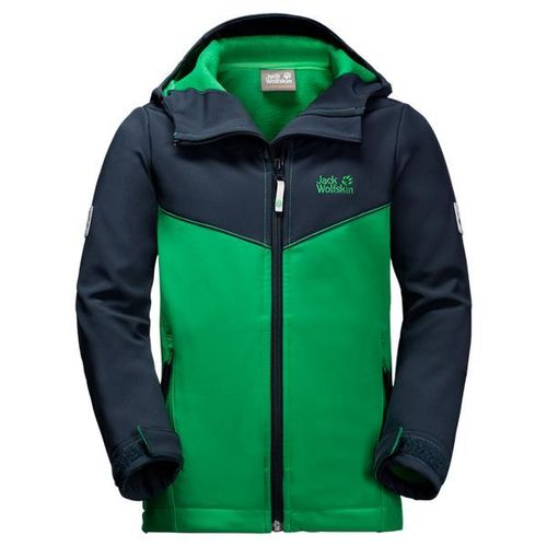 Jack Wolfskin Boys Windmill Road Softshell-Jacke - forest green