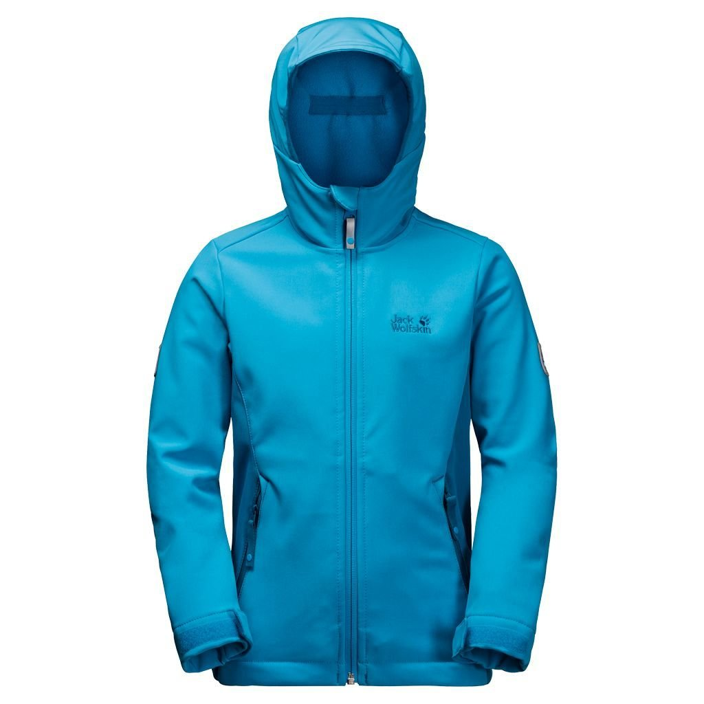 hot sales 94236 5c7c3 Jack Wolfskin Girls Windmill Road Softshell-Jacke Mädchen - icy lake blue