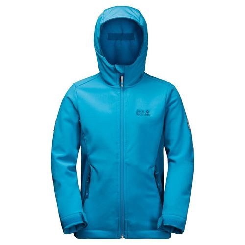 Jack Wolfskin Girls Windmill Road Softshell-Jacke Mädchen - icy lake blue