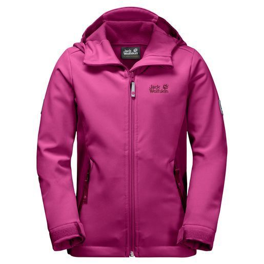 the best attitude 2319b fc46c Jack Wolfskin Girls Windmill Road Softshell-Jacke Mädchen - fuchsia