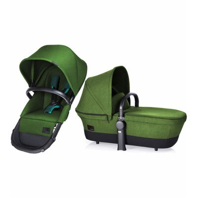 Cybex Platinum Priam Kinderwagenaufsatz  2-in-1 Sitz Carrycot - Hawaii Green